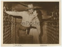 9x003 ALONG CAME JONES 10.75x14 still 1945 Gary Cooper & sexy Loretta Young in a tight space!