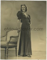 9x006 ANITA LOUISE deluxe 10.5x13.5 still 1930s full-length standing with her hand on a chair!