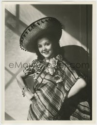 9x012 ANN RUTHERFORD deluxe 10x13 still 1940s smiling porrait wearing sombrero & Mexican outfit!