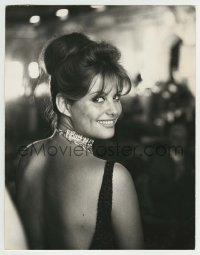 9x030 CLAUDIA CARDINALE deluxe Italian 9.25x11.75 still 1960 candid turning around & smiling!
