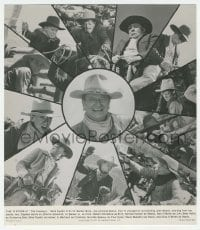 9x040 COWBOYS deluxe 10.25x11.75 still 1972 cool images of John Wayne & his 11 young cowboy co-stars!