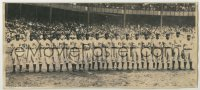 9x001 PITTSBURGH CRAWFORDS deluxe 6x13.75 news photo 1940s African American baseball team on field!
