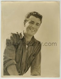 9x176 ROBERT TAYLOR deluxe 10x13 still 1930s great youthful smiling close up with sleeves rolled up!