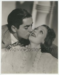 9x181 SECOND HONEYMOON deluxe 10.25x13.25 still 1937 c/u of Tyrone Power kissing Loretta Young!
