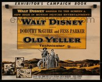 9x817 OLD YELLER pressbook 1957 Dorothy McGuire, Fess Parker, art of Disney's most classic canine!