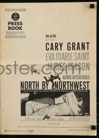 9x808 NORTH BY NORTHWEST pressbook 1959 Alfred Hitchcock classic with Cary Grant & Eva Marie Saint!