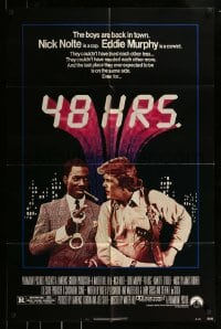 9y010 48 HRS. 1sh 1982 Nick Nolte is a cop who hates Eddie Murphy who is a convict!