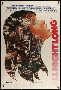 9y029 ALL NIGHT LONG 1sh 1976 John Holmes, incredibly sexy different art and images!