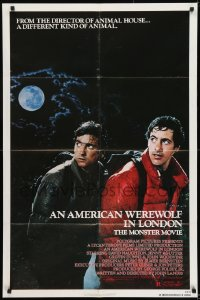 9y038 AMERICAN WEREWOLF IN LONDON 1sh 1981 David Naughton, Agutter, Dunne, John Landis!