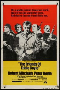 9y323 FRIENDS OF EDDIE COYLE 1sh 1973 Robert Mitchum lives in a grubby, violent, dangerous world!