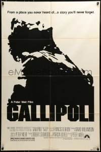 9y330 GALLIPOLI 1sh 1981 Peter Weir directed classic, Mark Lee, Mel Gibson!