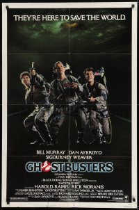 9y335 GHOSTBUSTERS 1sh 1984 Bill Murray, Aykroyd & Harold Ramis are here to save the world!
