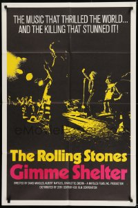 9y338 GIMME SHELTER int'l 1sh 1971 Rolling Stones out of control rock & roll concert!