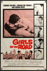 9y340 GIRLS ON THE ROAD 1sh 1973 looking for men & trouble, and finding both!