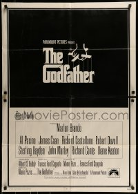 9y347 GODFATHER int'l trimmed 27x39 1sh 1972 Francis Ford Coppola crime classic, S. Neil Fujita!