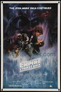 1c008 EMPIRE STRIKES BACK studio style 1sh 1980 classic Gone With The Wind style art by Kastel, studio printing