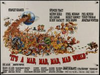 1f003 IT'S A MAD, MAD, MAD, MAD WORLD style B British quad 1964 great full Jack Davis art of cast!