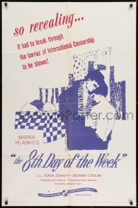 1j037 8th DAY OF THE WEEK 1sh 1959 story of young & passionate loves of Poland's Beat Generation!