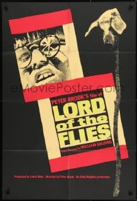 1j002 LORD OF THE FLIES English 1sh 1963 William Golding's classic, Hugh Edwards, rare!