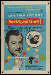 1j017 NEXT TO NO TIME English 1sh 1958 Kenneth More, you'll be laughing and loving every minute!