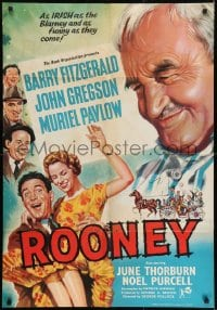 1j019 ROONEY English 1sh 1958 Barry Fitzgerald, as Irish as the Blarney and as funny as they come!