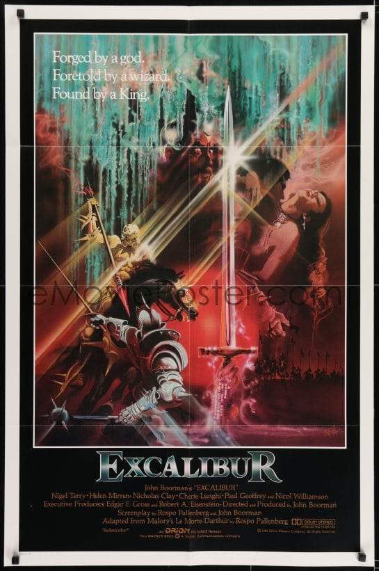 Excalibur 1981 movie poster lady in lake
