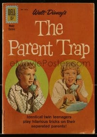 1m013 PARENT TRAP comic book 1961 Disney, Hayley Mills as separated identical twin teens!