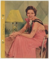 1m016 KAY FRANCIS Dixie ice cream premium 1935 sexy seated portrait with biography on back!