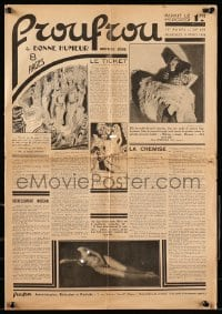 1m020 FROU-FROU French 15x21 newspaper March 11, 1936 many images of sexy nude women!