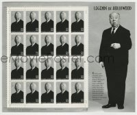 1m026 ALFRED HITCHCOCK Legends of Hollywood stamp sheet 1997 contains 20 uncut postage stamps!