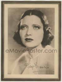 1m012 KAY FRANCIS 9x12 collectible studio portrait 1934 giveaway from Lux Toilet Soap!