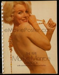 1m014 MARILYN MONROE 9x11 datebook 1974 with commentary by Norman Mailer, great sexy images!