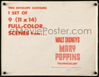 1m024 MARY POPPINS 12x15 LC envelope 1964 Walt Disney does NOT contain any lobby cards!