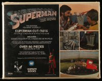 1m015 SUPERMAN 11x14 diorama cut-out set 1978 three different action sets, make it yourself!