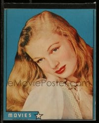 1m005 VERONICA LAKE 8x10 composition pad 1940s sexy portrait + 15 blank pages to write on!
