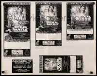 1m008 STAR WARS/EMPIRE STRIKES BACK ad slick R1997 they're back on the big screen!