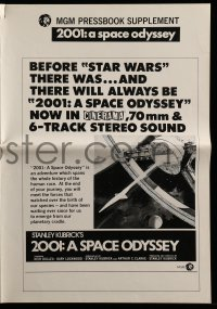 1m031 2001: A SPACE ODYSSEY Cinerama pressbook supplement R1977 Kubrick's classic is like Star Wars!