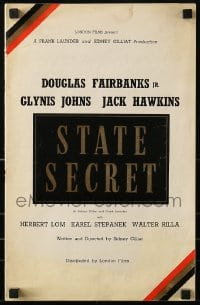 1p028 STATE SECRET English pressbook 1950 Douglas Fairbanks Jr., Glynis Johns, Jack Hawkins, rare!