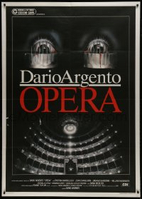 1p369 OPERA Italian 1p 1987 written and directed by Dario Argento, cool creepy Casaro artwork!