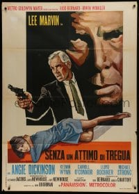 1p373 POINT BLANK Italian 1p 1968 different art of Lee Marvin & Angie Dickinson, John Boorman noir!