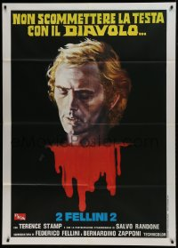 1p393 SPIRITS OF THE DEAD Italian 1p R1978 Federico Fellini, different Avelli art of Terence Stamp!