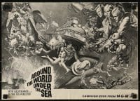 1p032 AROUND THE WORLD UNDER THE SEA pressbook 1966 Lloyd Bridges, great scuba diving fantasy art!