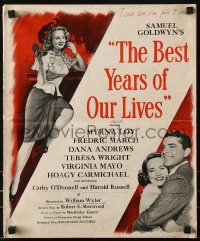 1p035 BEST YEARS OF OUR LIVES pressbook 1946 Dana Andrews, Teresa Wright, Virginia Mayo, rare!