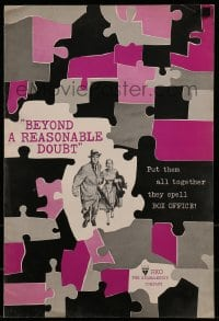 1p036 BEYOND A REASONABLE DOUBT pressbook 1956 Fritz Lang noir, Dana Andrews & Joan Fontaine!