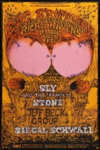 1p003 BIG BROTHER & THE HOLDING COMPANY/RICHIE HAVENS/ILLINOIS SPEED PRESS 14x21 music poster 1968