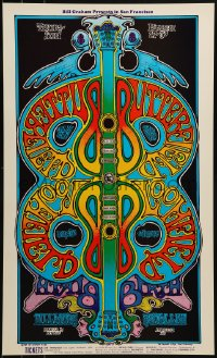 1p005 BUTTERFIELD BLUES BAND/BLOOMFIELD & FRIENDS/BIRTH 13x22 music poster 1969 Greg Irons art!