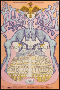 1p010 ELECTRIC FLAG/BLUE CHEER/BUDDY GUY/IKE & TINA TURNER/FREDDY KING 14x21 music poster 1968