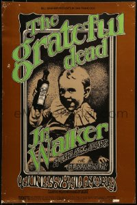 1p011 GRATEFUL DEAD/JUNIOR WALKER/GLASS FAMILY 1st printing 14x21 music poster 1969 Randy Tuten art!