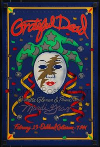 1p012 GRATEFUL DEAD/ORNETTE COLEMAN/PRIME TIME 13x20 music poster 1993 Harry Rossit jester art!