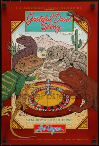 1p013 GRATEFUL DEAD/STING 13x19 music poster 1993 Harry Rossit art of lizards playing roulette!
